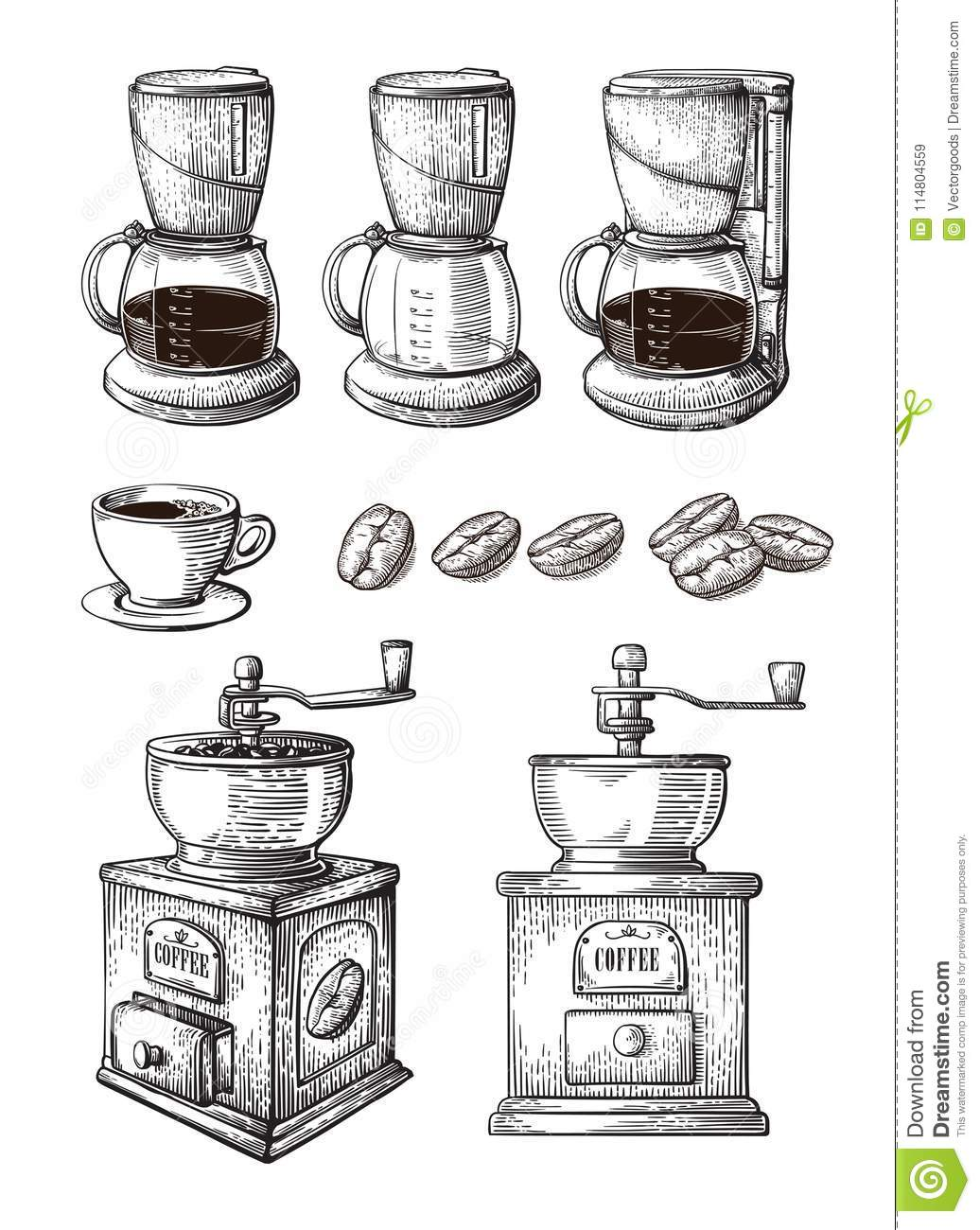 Hand Grinder Stock Illustrations