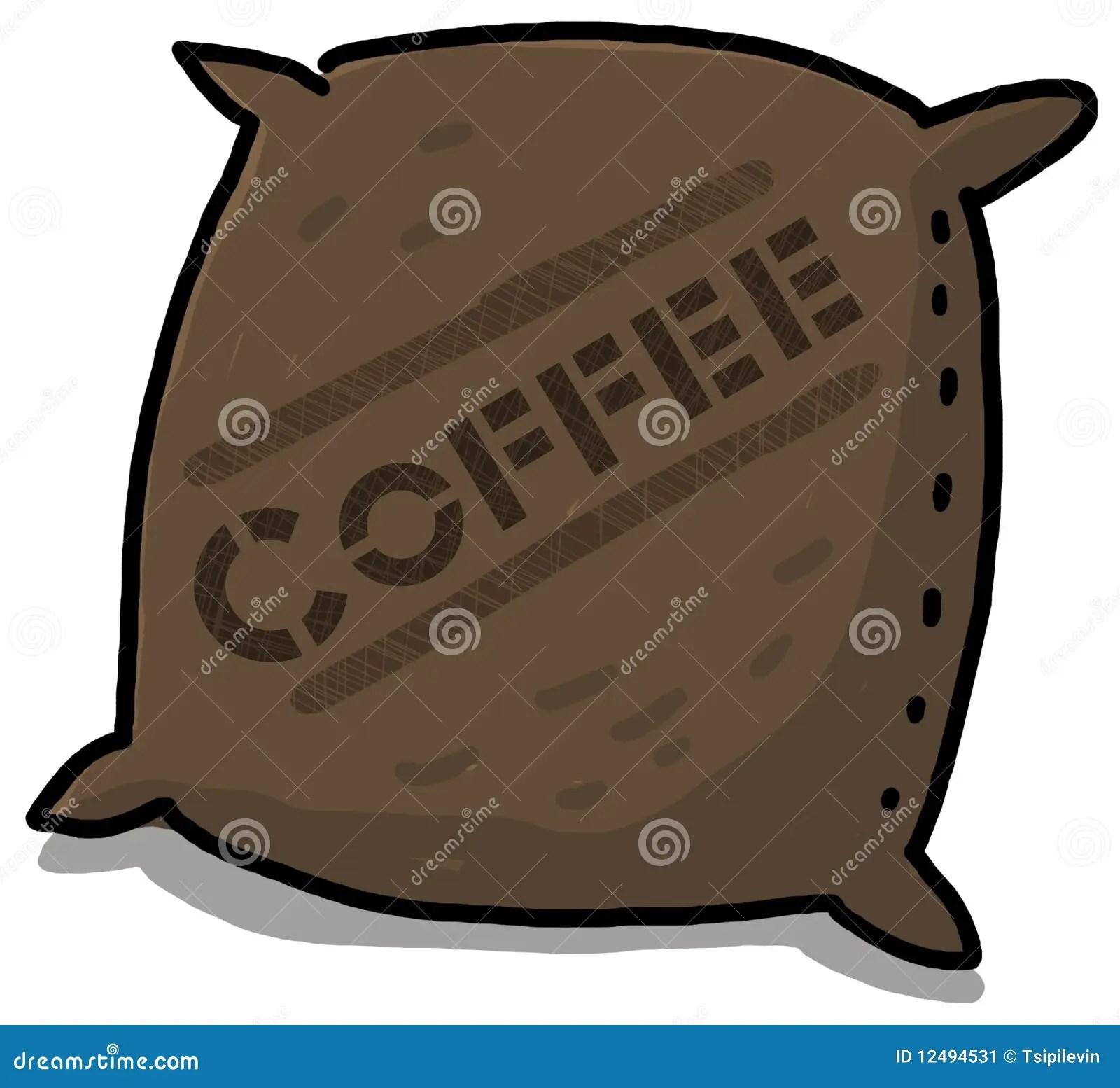 Coffee sack illustration stock illustration Image of