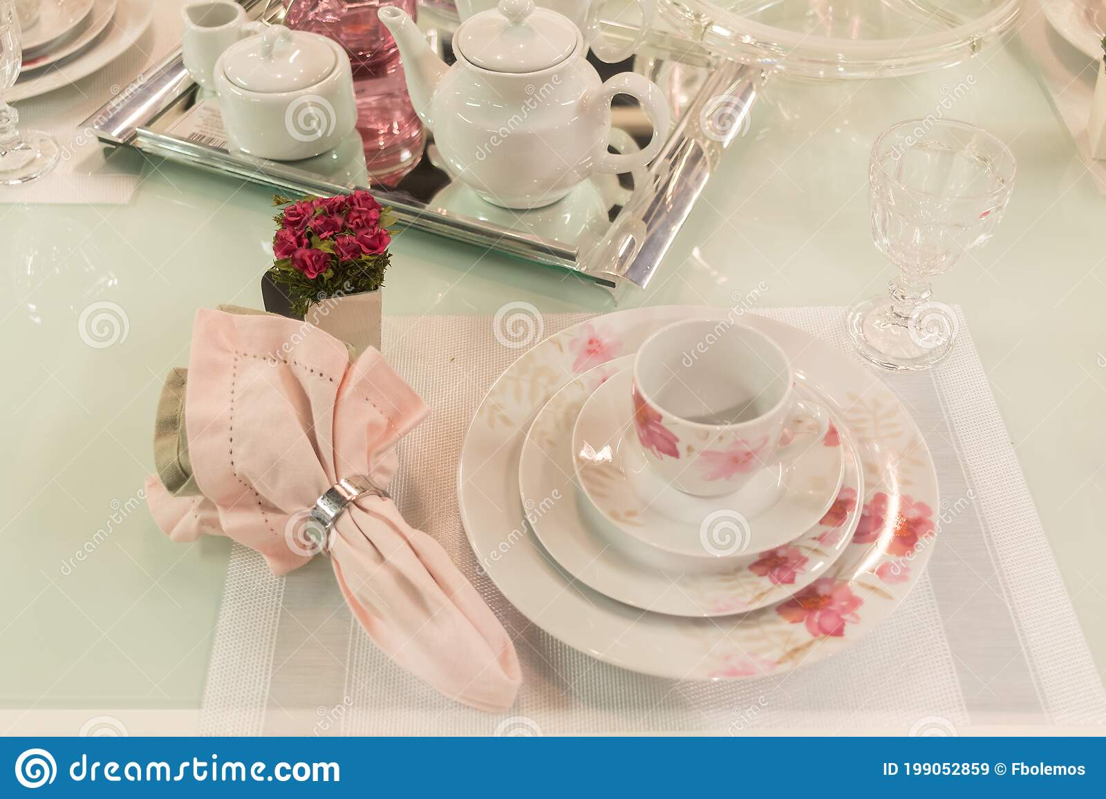 coffee table or dinner stock image image of colorful 199052859