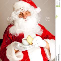 Santa Claus Chair Zero Gravity Shiatsu Massage Coffee Time For Stock Image - Image: 11527999