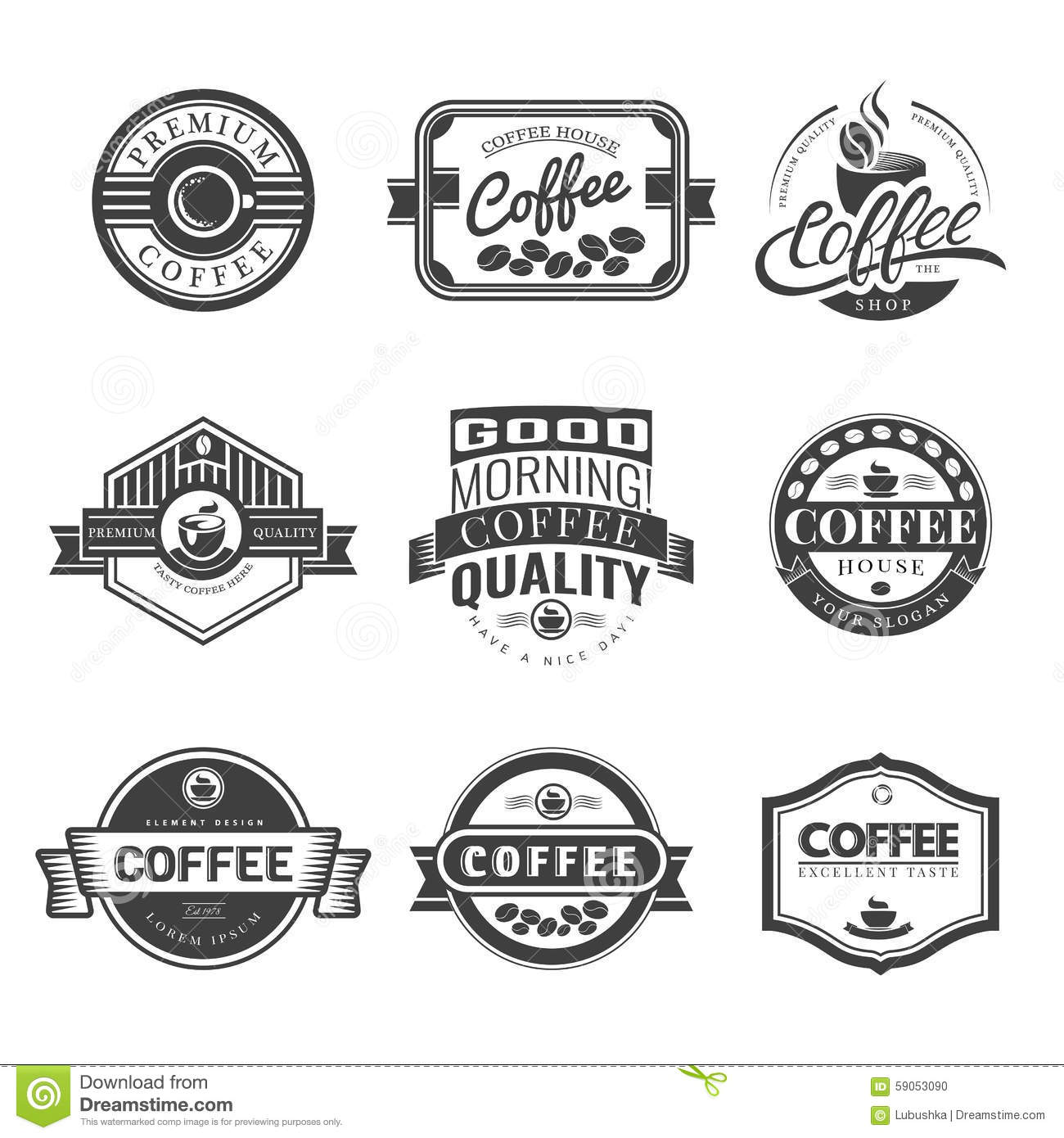 Coffee Vintage Logo Stock Vector Illustration Of