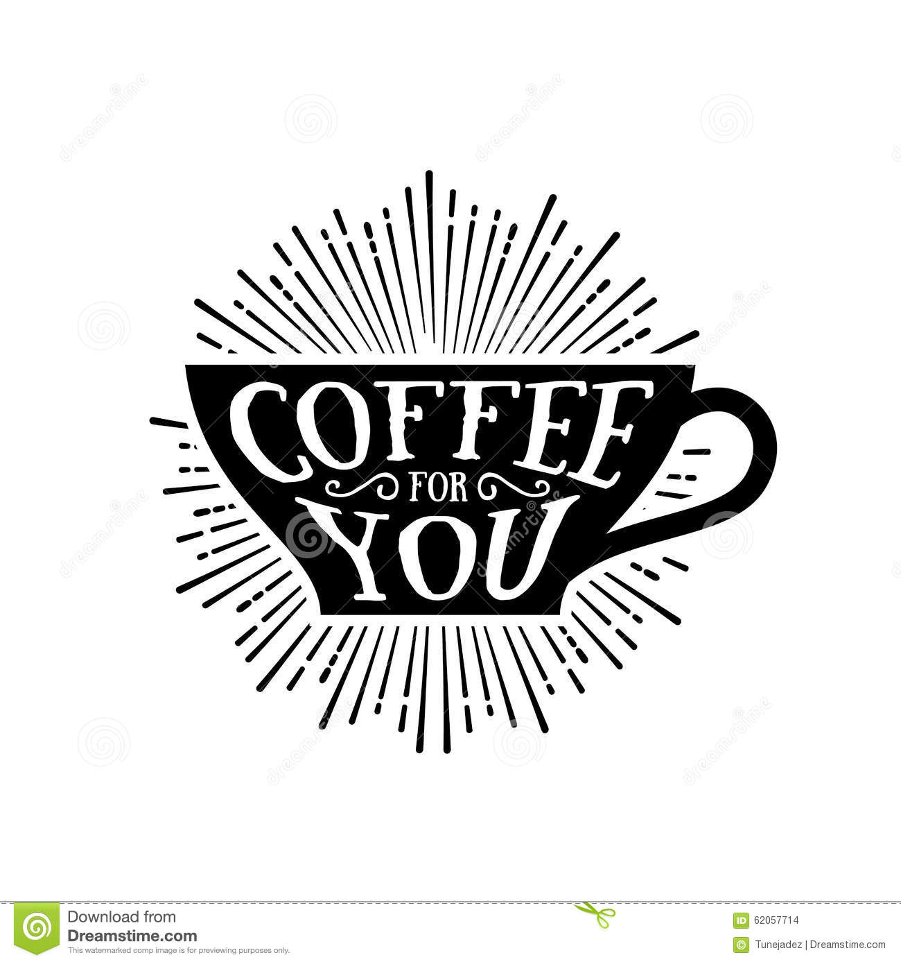 Coffee For You Stock Vector Illustration Of Chalk