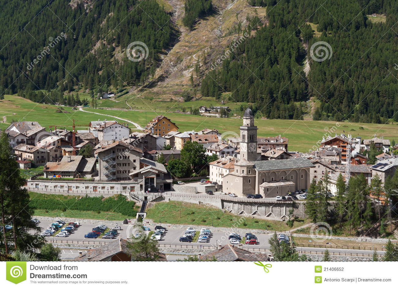 Cogne Valle Di Aosta Italia Fotografia Stock  Immagine di roccie scenico 21406652