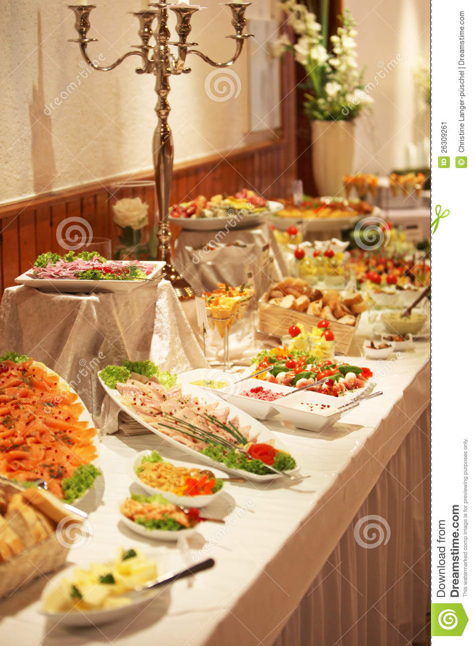 Cold buffet display stock image Image of buffet catered  26309261
