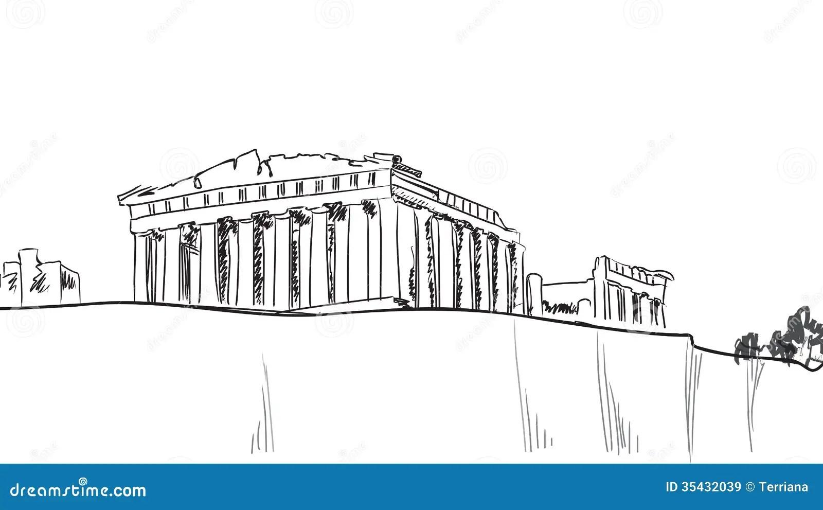 Colina De La Acropolis En Atenas Destino Europeo Del Viaje