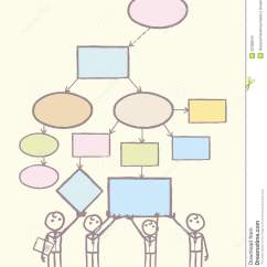 Network Diagram Template Word Mercedes Sprinter Wiring Diagrams Collaboration On Mind Map Vector Stock - Image: 32389543