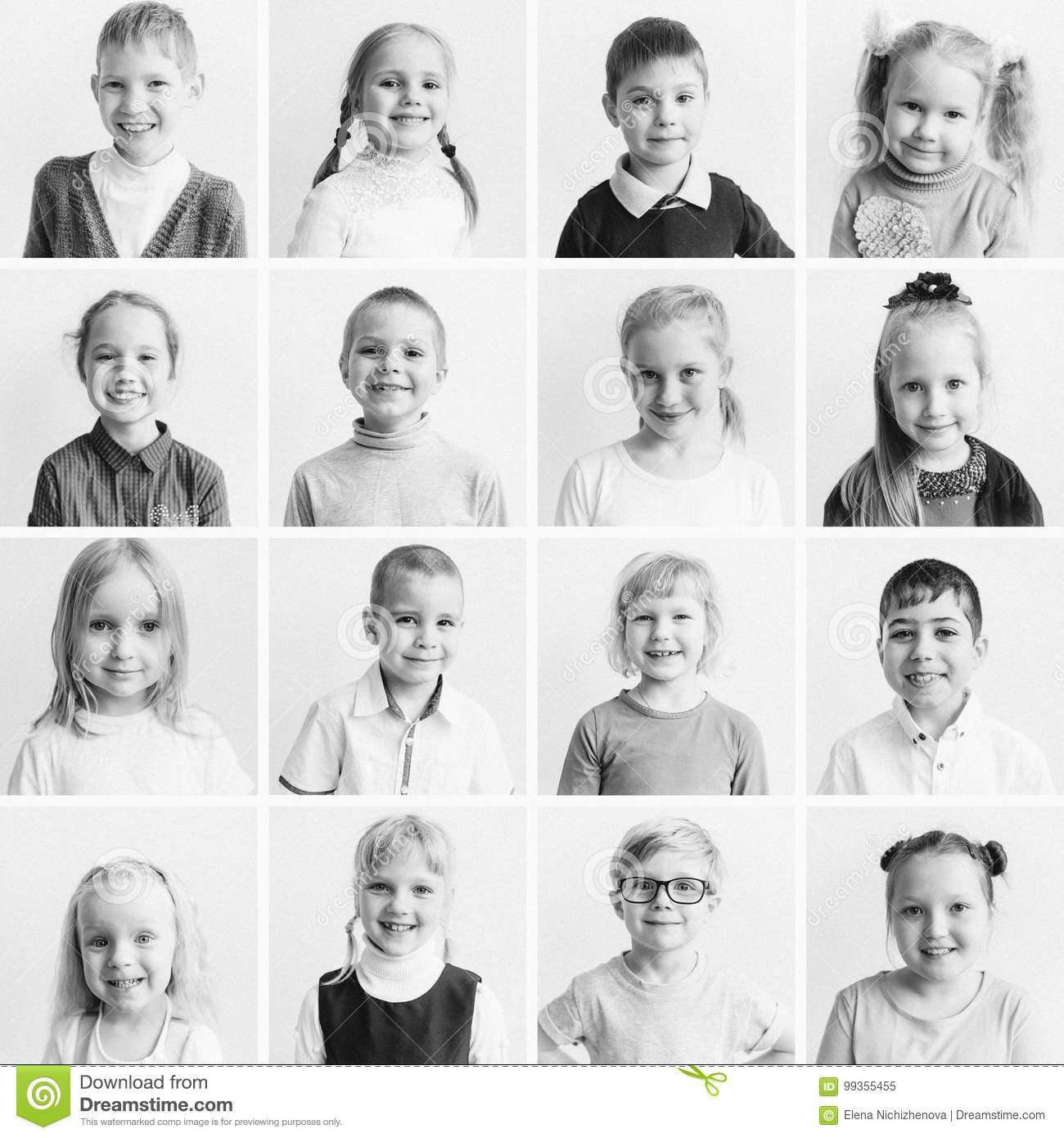 Kids Emotions Collage Stock Image Image Of Laugh Face
