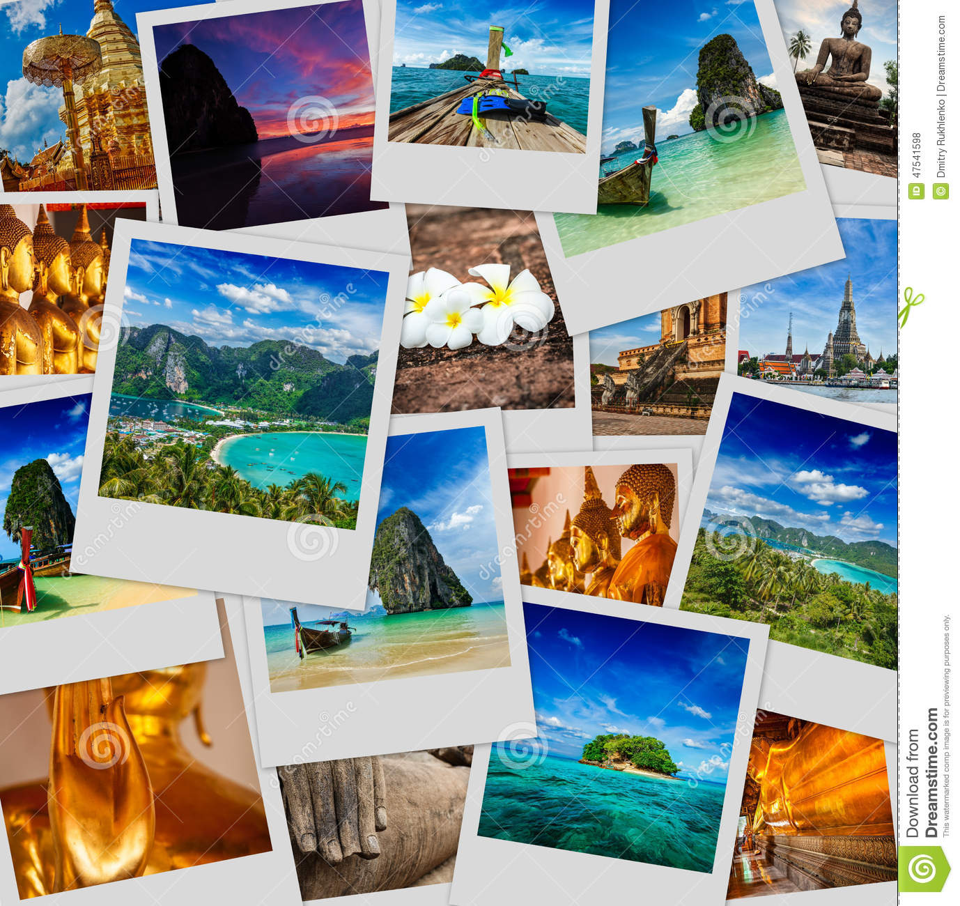 Collage Of Thailand Images Stock Photo Image Of Buddhism