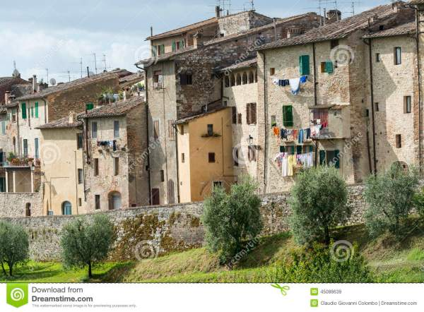 Colle Di Val D39Elsa Tuscany Stock Image Image of city