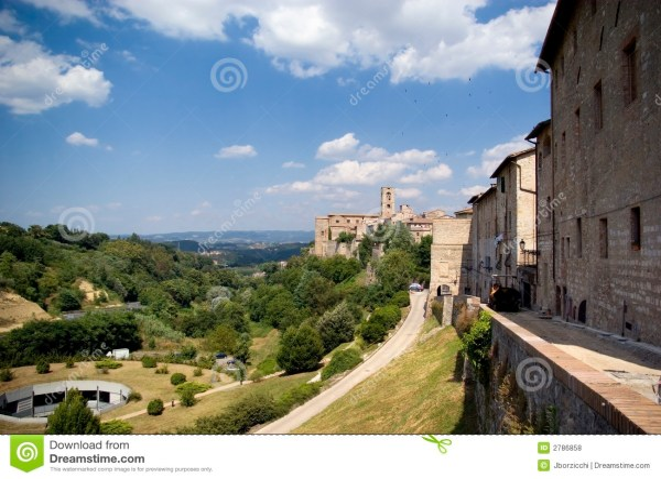 Colle val d39elsa Tuscany stock photo Image of tuscany