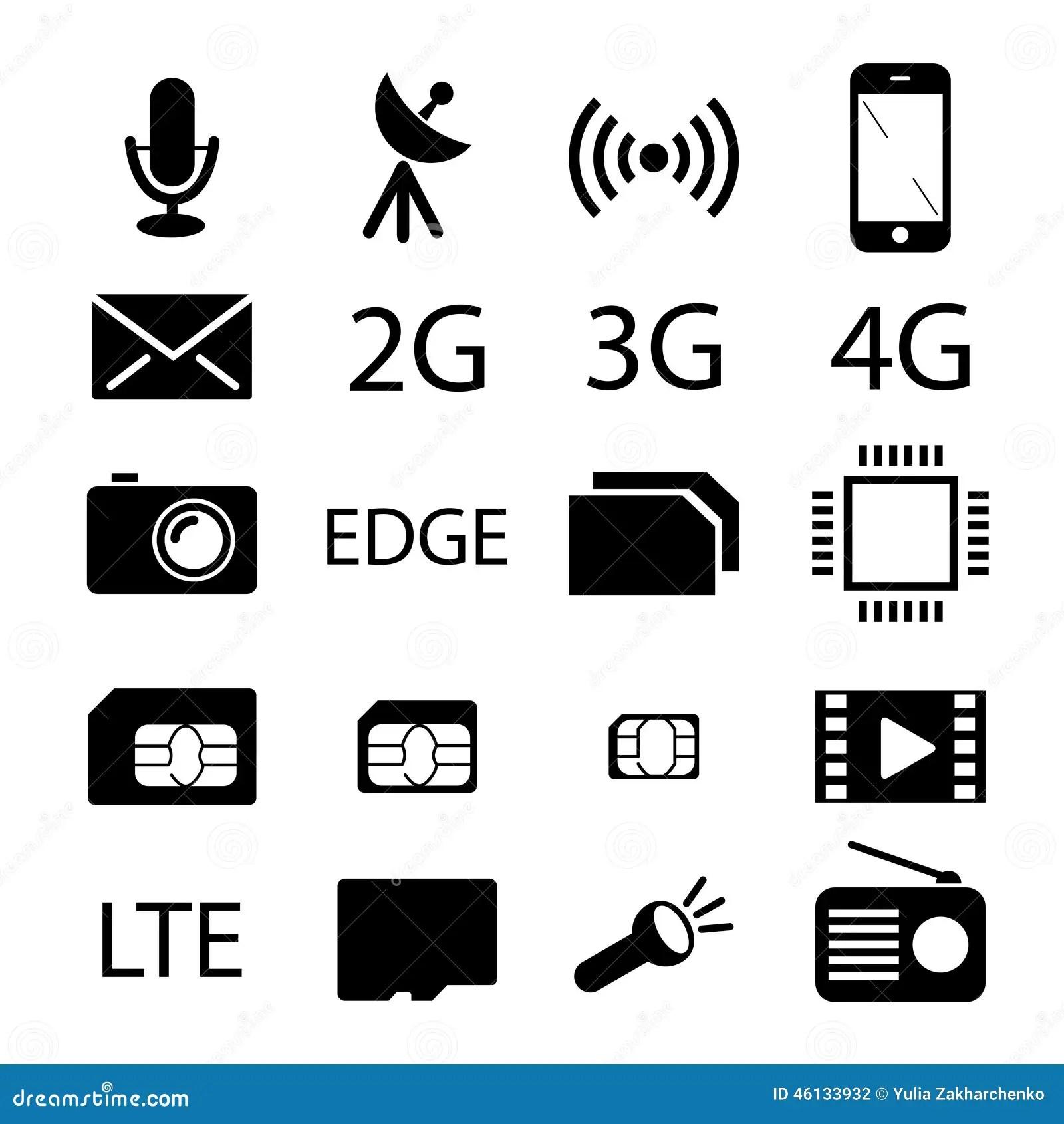 Collection D'icône De Spécifications De Téléphone Portable