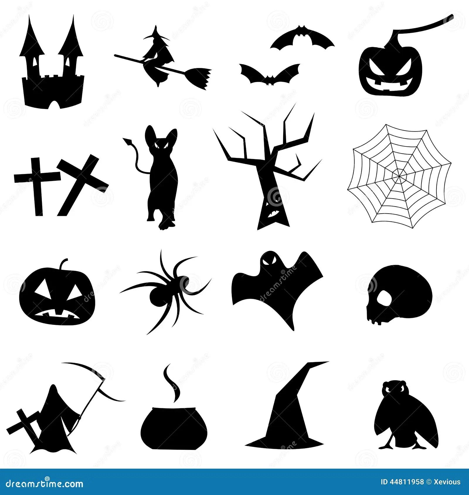 Collection De Formes Pour Halloween Illustration Stock