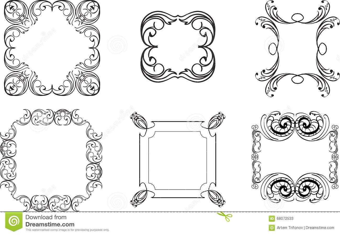 Collection Of Decorative Vintage Frames Vintage Borders