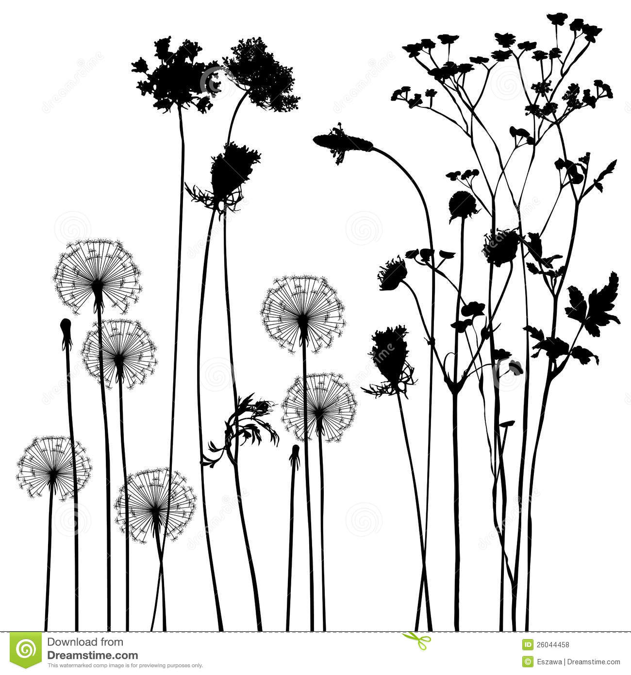 Collection, For Designers, Plant Vector Royalty Free Stock