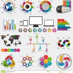 Free Circular Arrow Diagram Template Hunter 3 Speed Fan Switch Wiring Collection Of Infographic Vector Design Stock - Image: 57492058