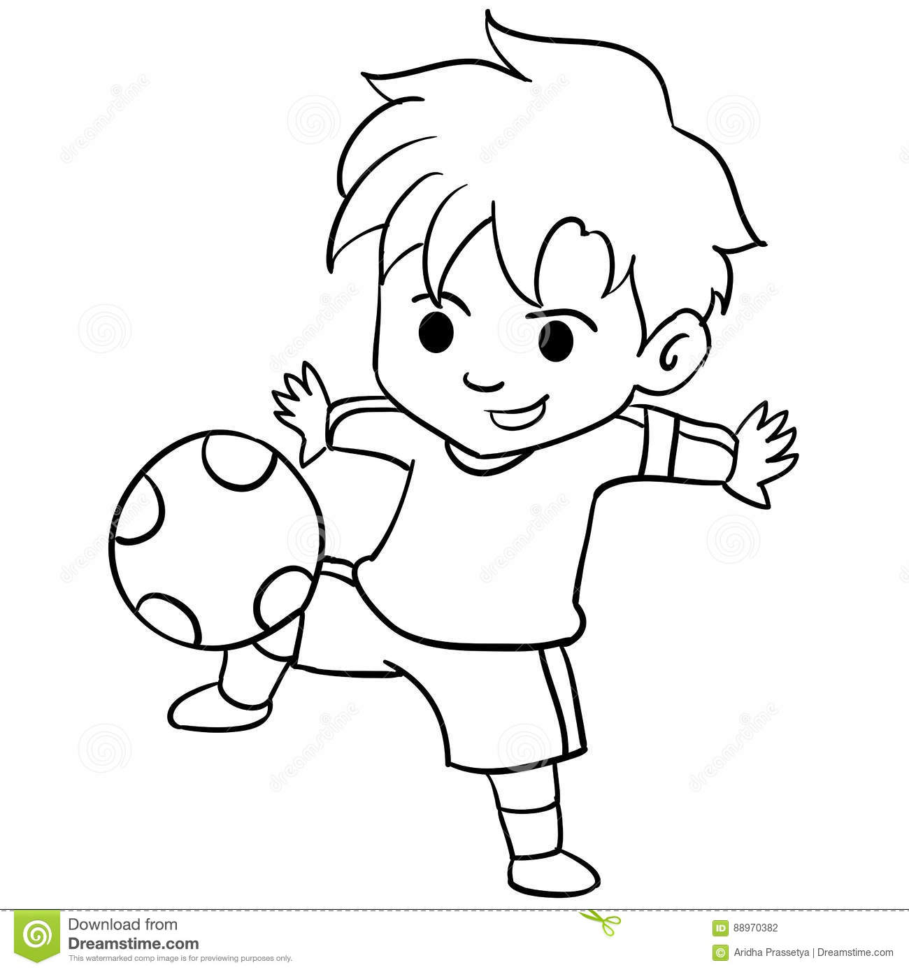 Kid Playing Clipart