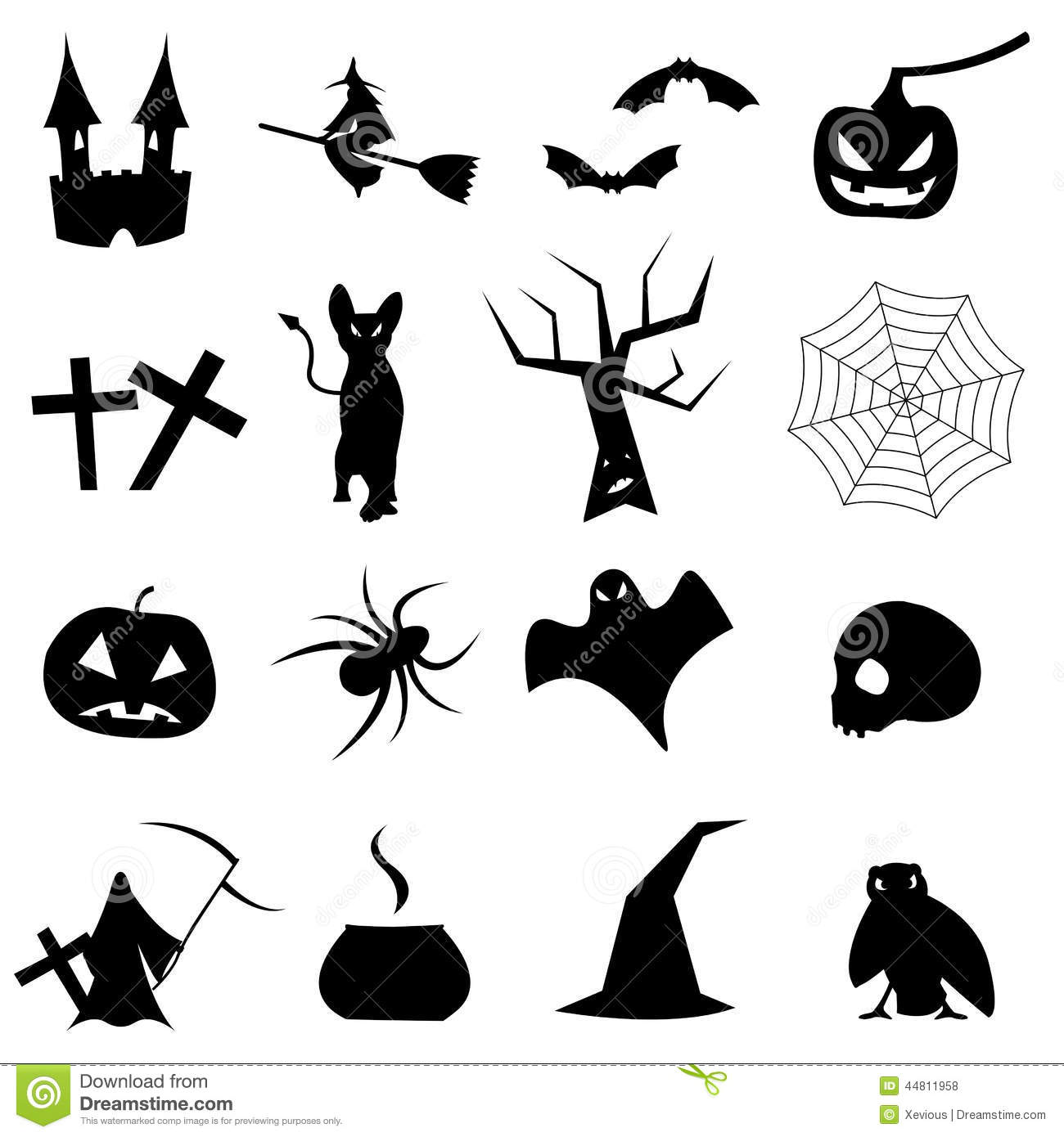 Collection Of Shapes For Halloween Stock Illustration