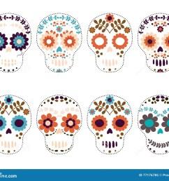 sugar skulls day of the dead [ 1300 x 1131 Pixel ]