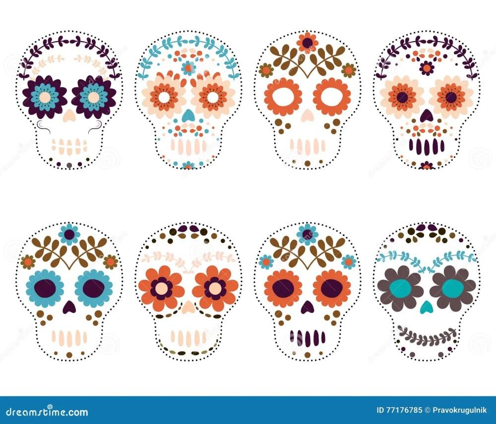 medium resolution of sugar skulls day of the dead