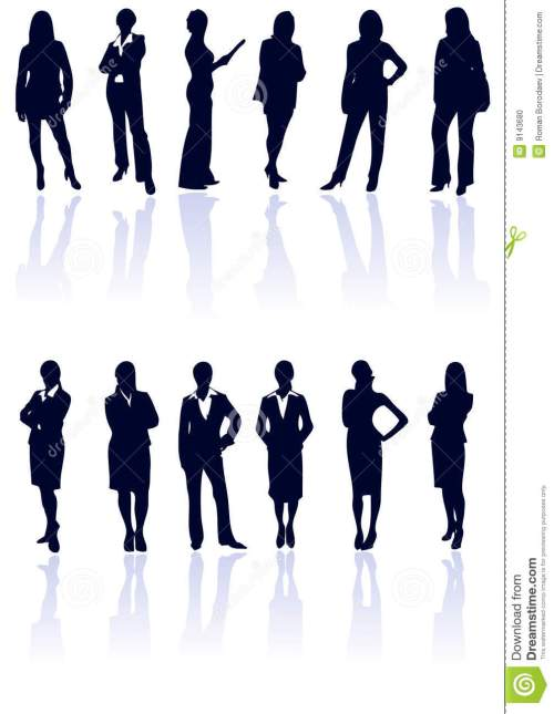 small resolution of professional business woman vector silhouette businesswoman working professionals silhouettes outline vector talking clip art team