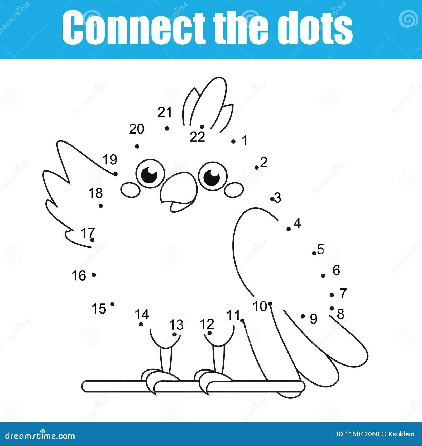 Colleghi I Punti Dal Gioco Educativo Dei Bambini Di Numeri