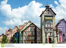 Colorful Building - Colmar Tropicale Stock