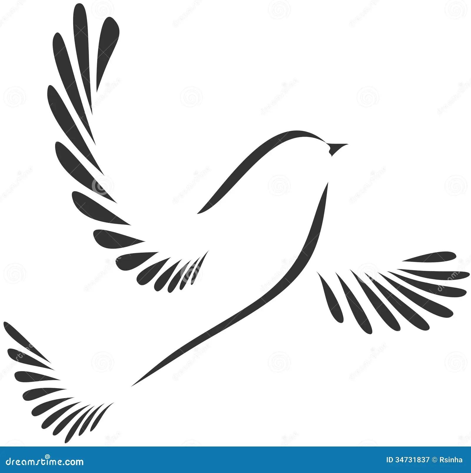 Colomba O Uccello Illustrazione Vettoriale Illustrazione