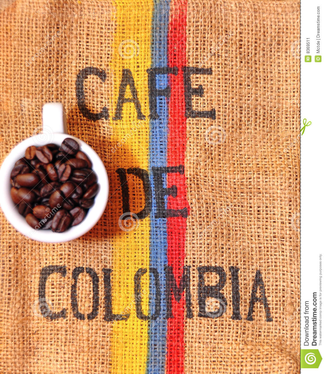 Colombian coffee stock image Image of weave bunch