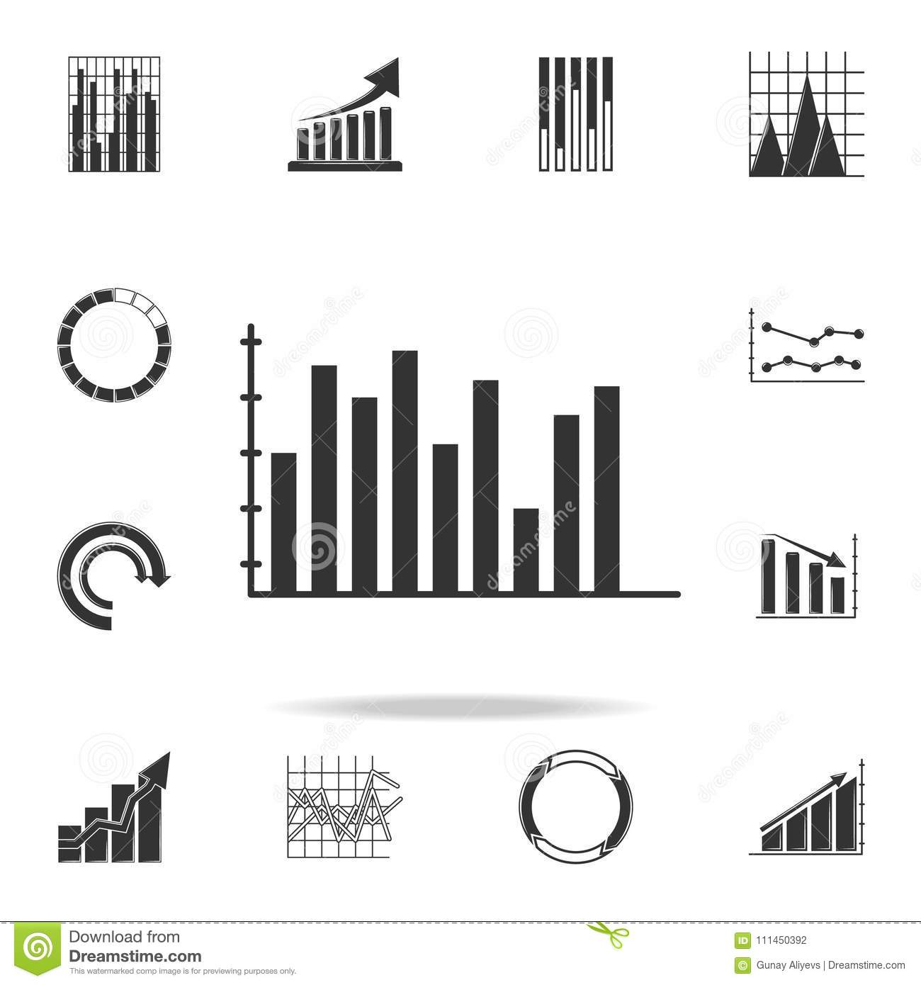 Colomn Chart Icon Detailed Set Of Trend Diagram And Chart