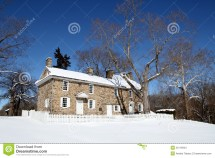 Colonial Home - Washington Crossing State Park Pa Stock