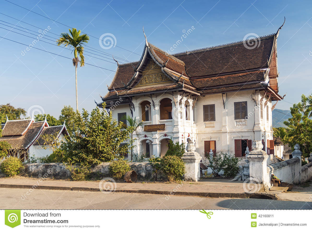 Colonial House In Luang Prabang In Laos Stock Image  Image 42160811