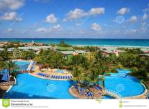 Color Of Carribean Stock Wave Landscape