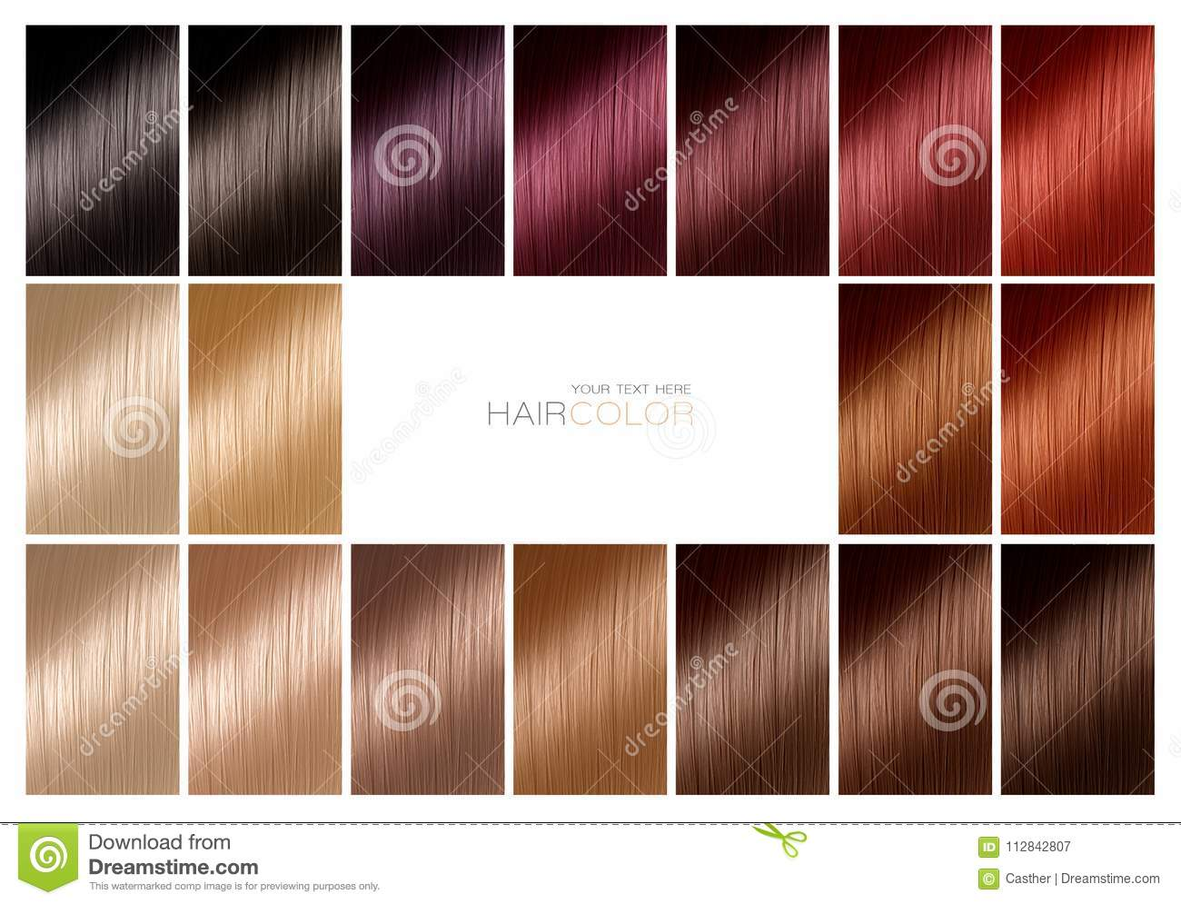 color chart for hair
