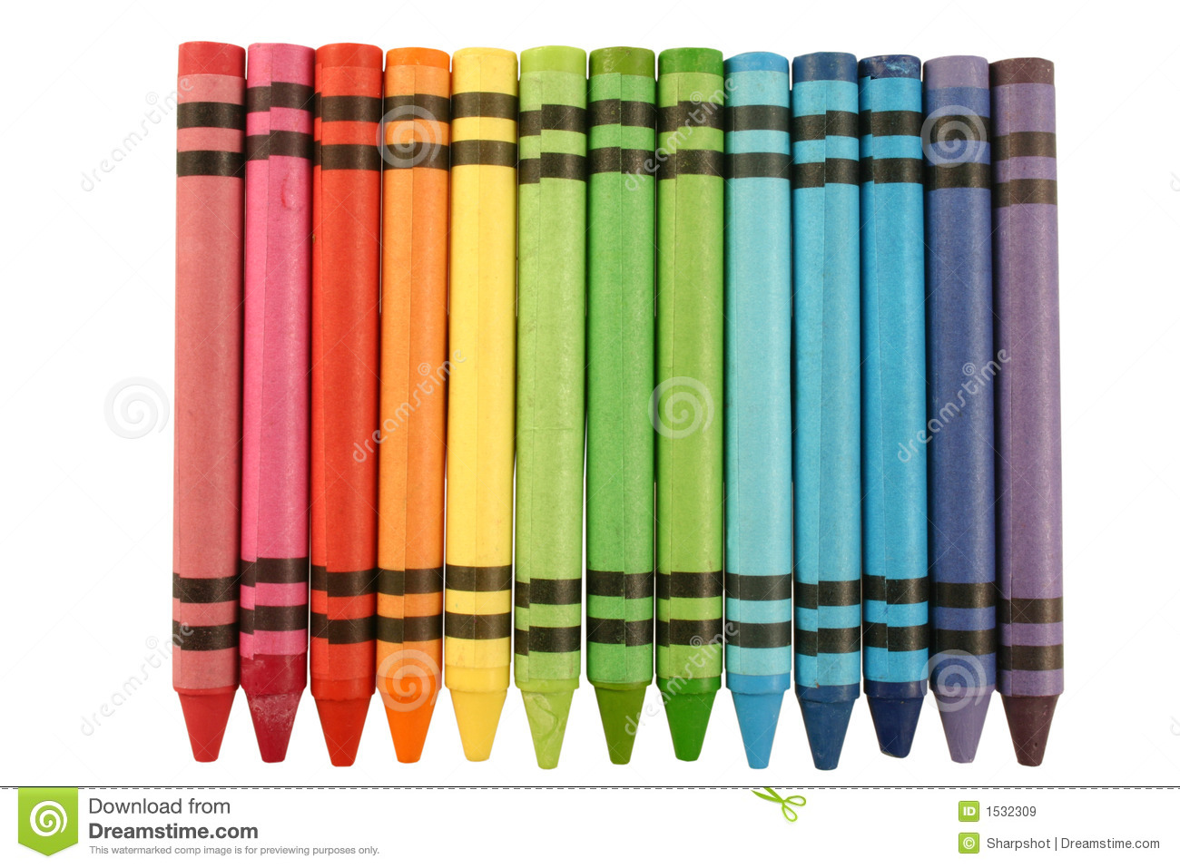Color Crayons Royalty Free Stock Images Image 1532309