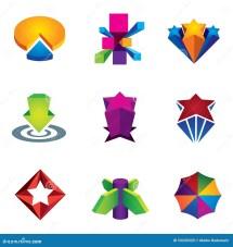 Color 3d Social Super Star Icon Set Internet Web