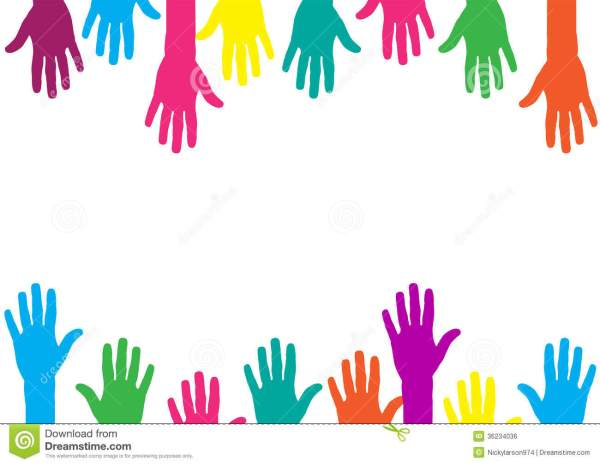 Color Hands Background Royalty Free Stock