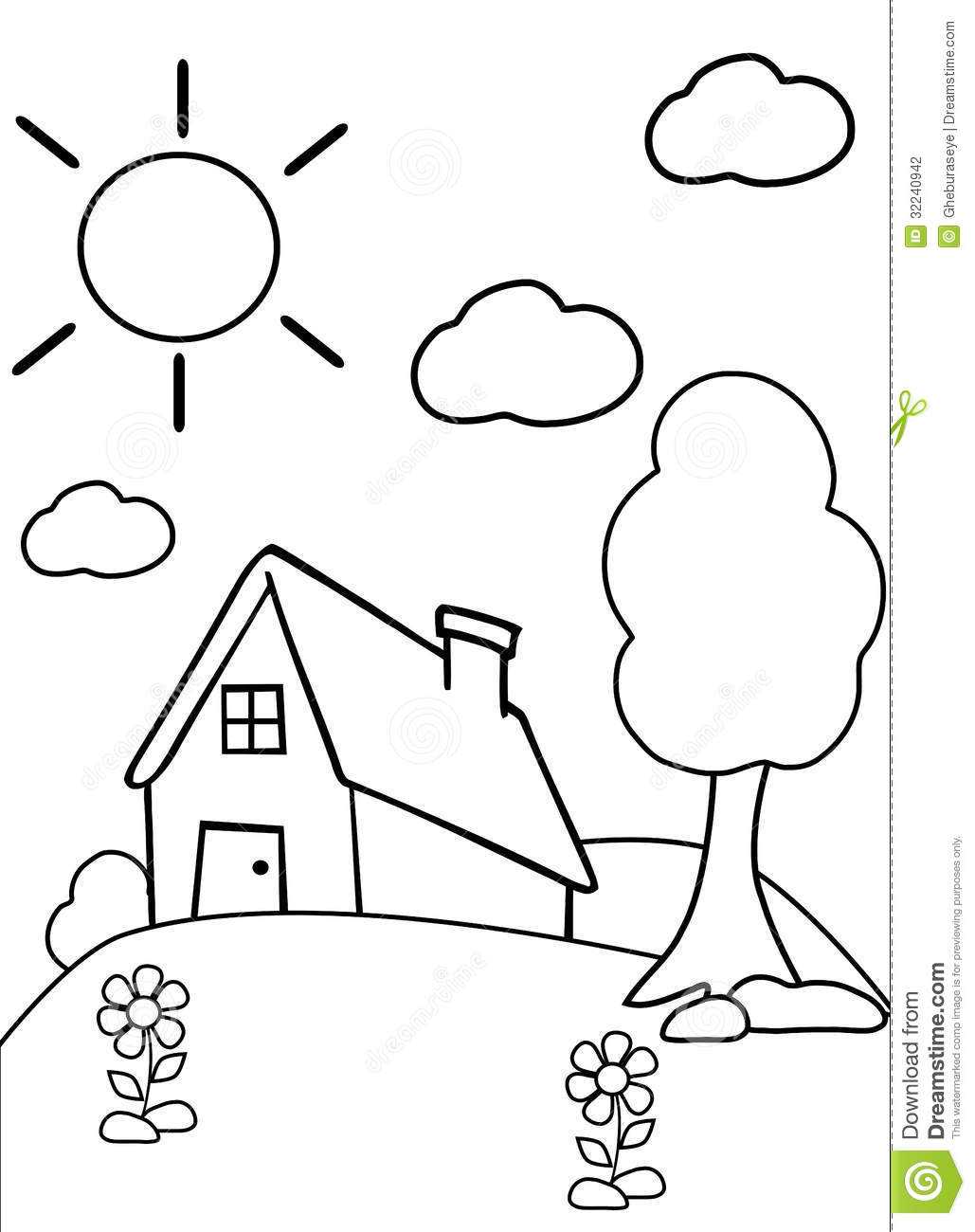 Color The House Stock Photography