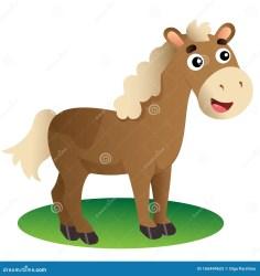 horse farm cartoon illustration vector animals background preview