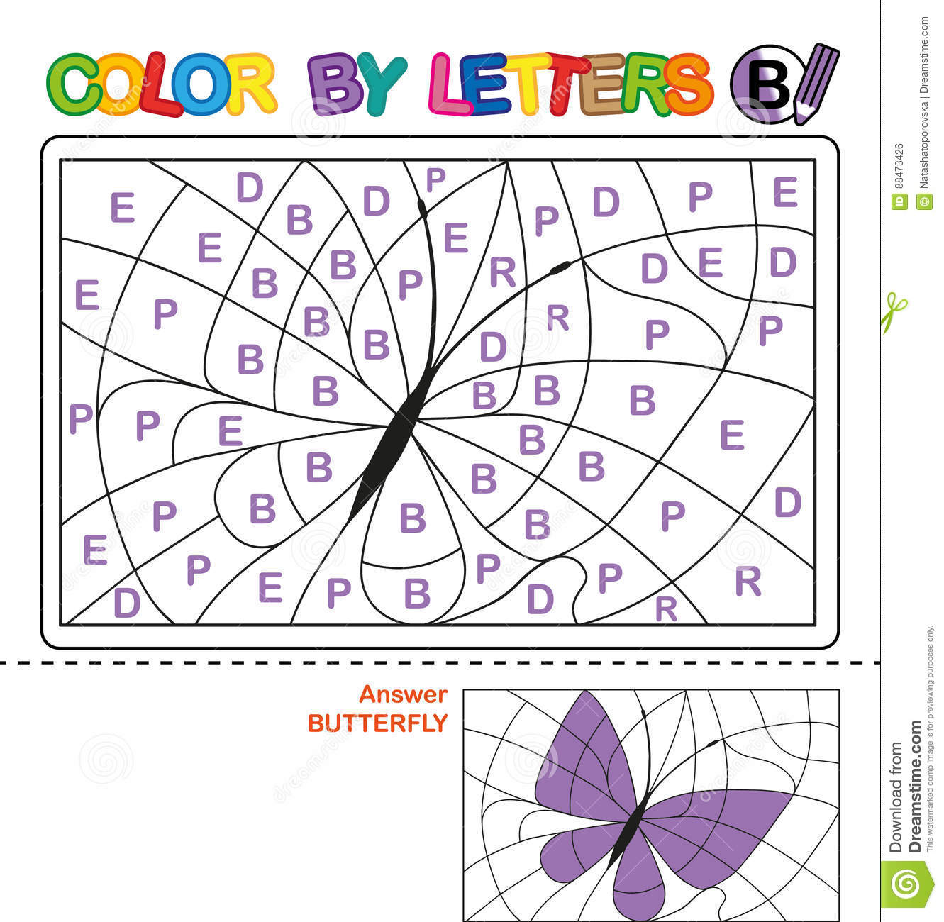 Worksheet Color By Letter Ss
