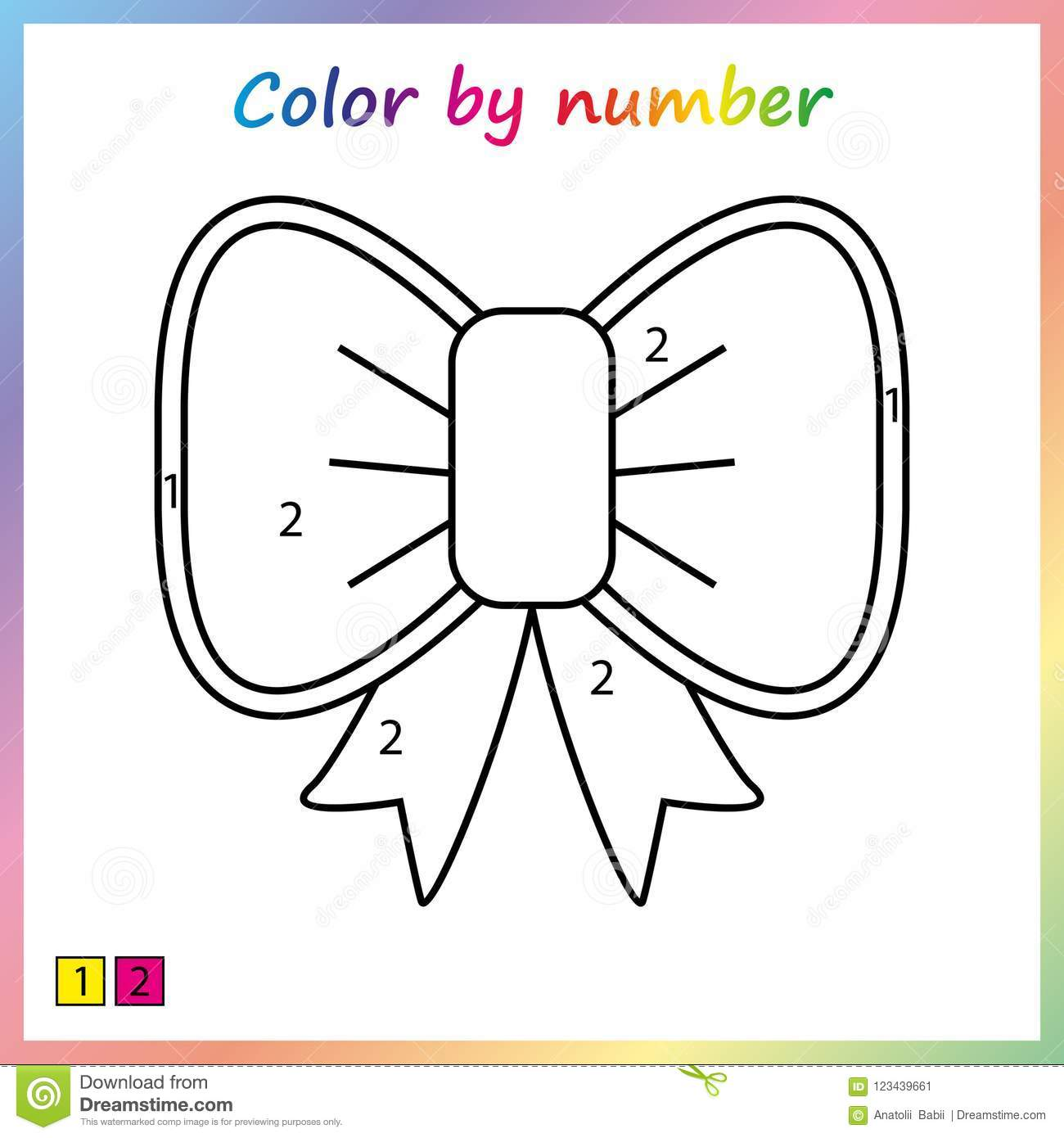 Color By Worksheet For Preschool