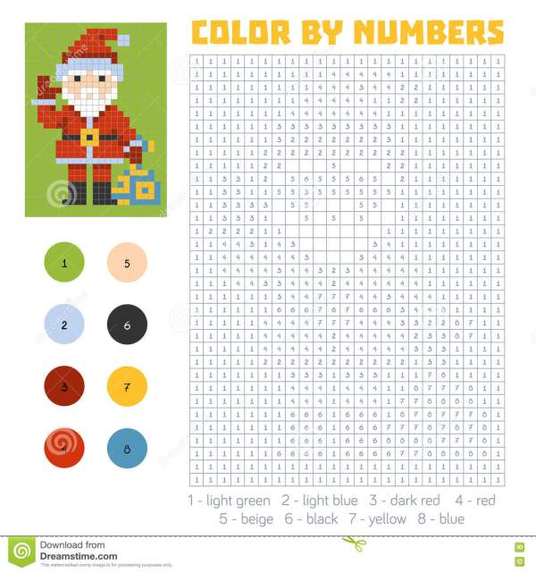 Number From 0 To 9 With Santa Hat Isolated Cartoon Vector