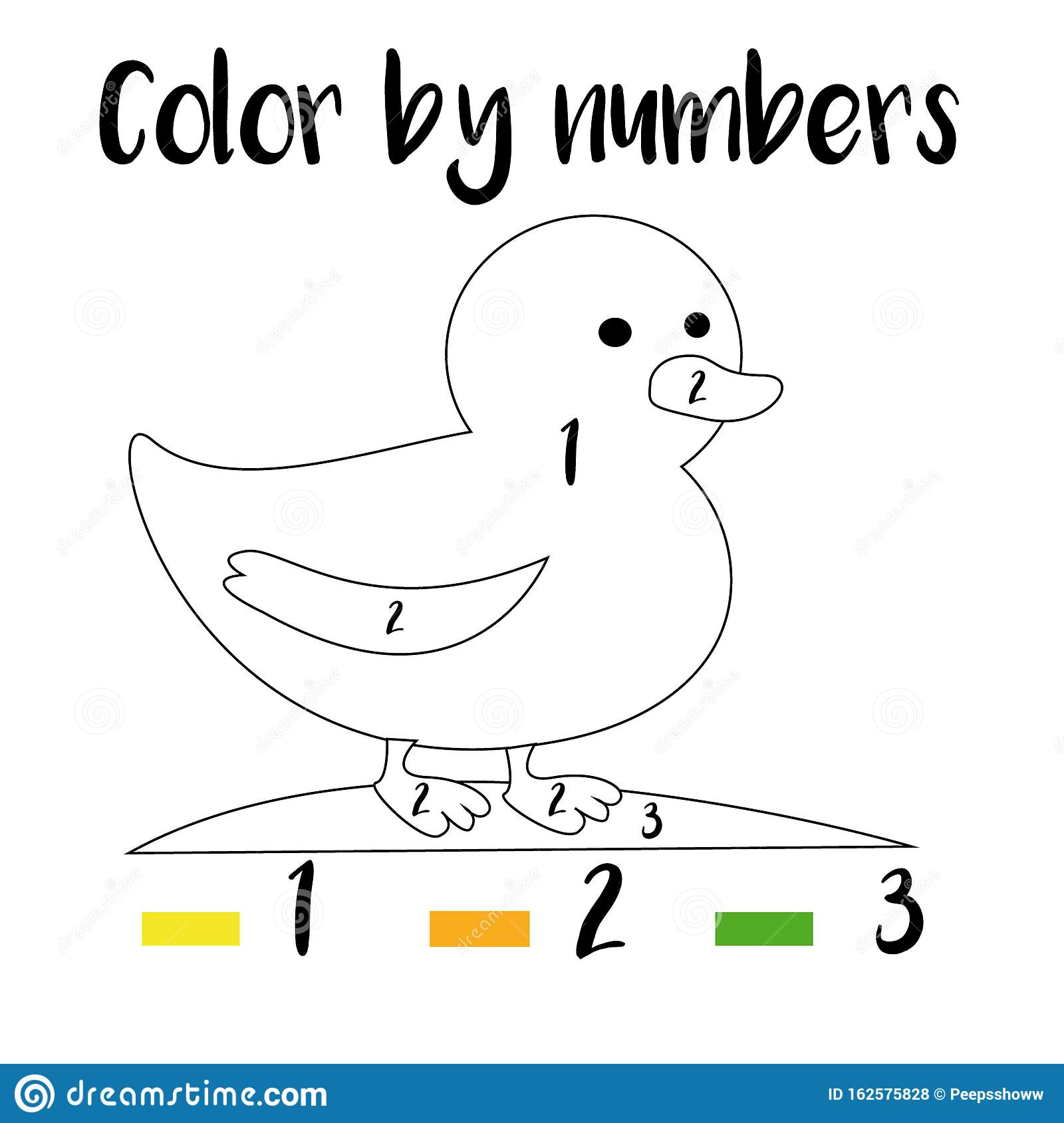 Color By Numbers Printable Worksheet Educational Game