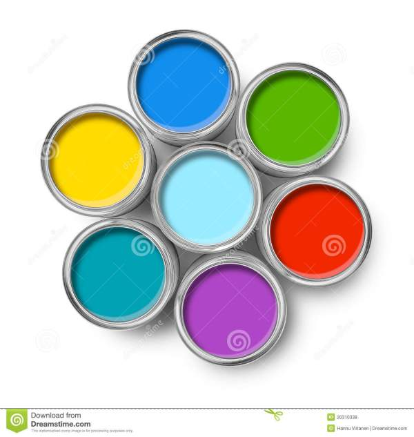 Color Paint Tin Cans Top Royalty Free Stock - 20310338