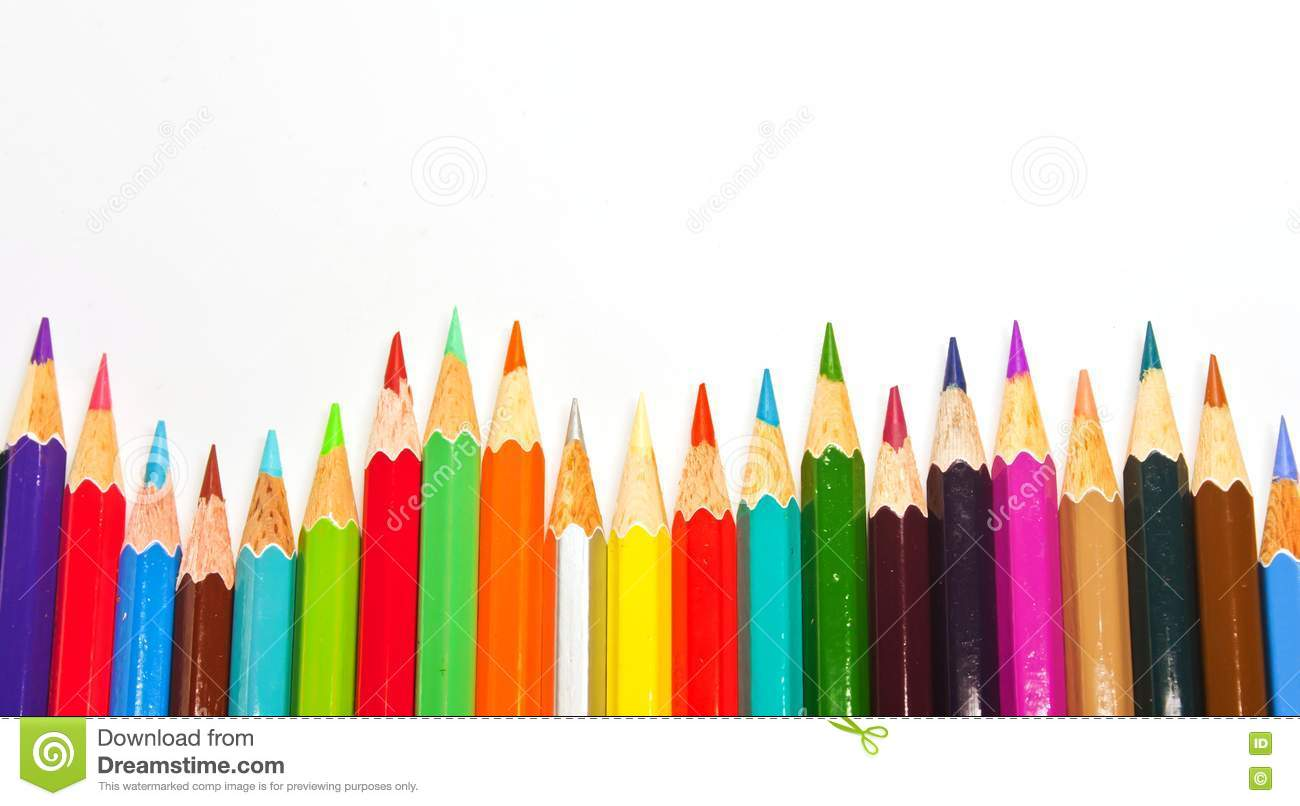 Color pencils background stock image Image of pencils