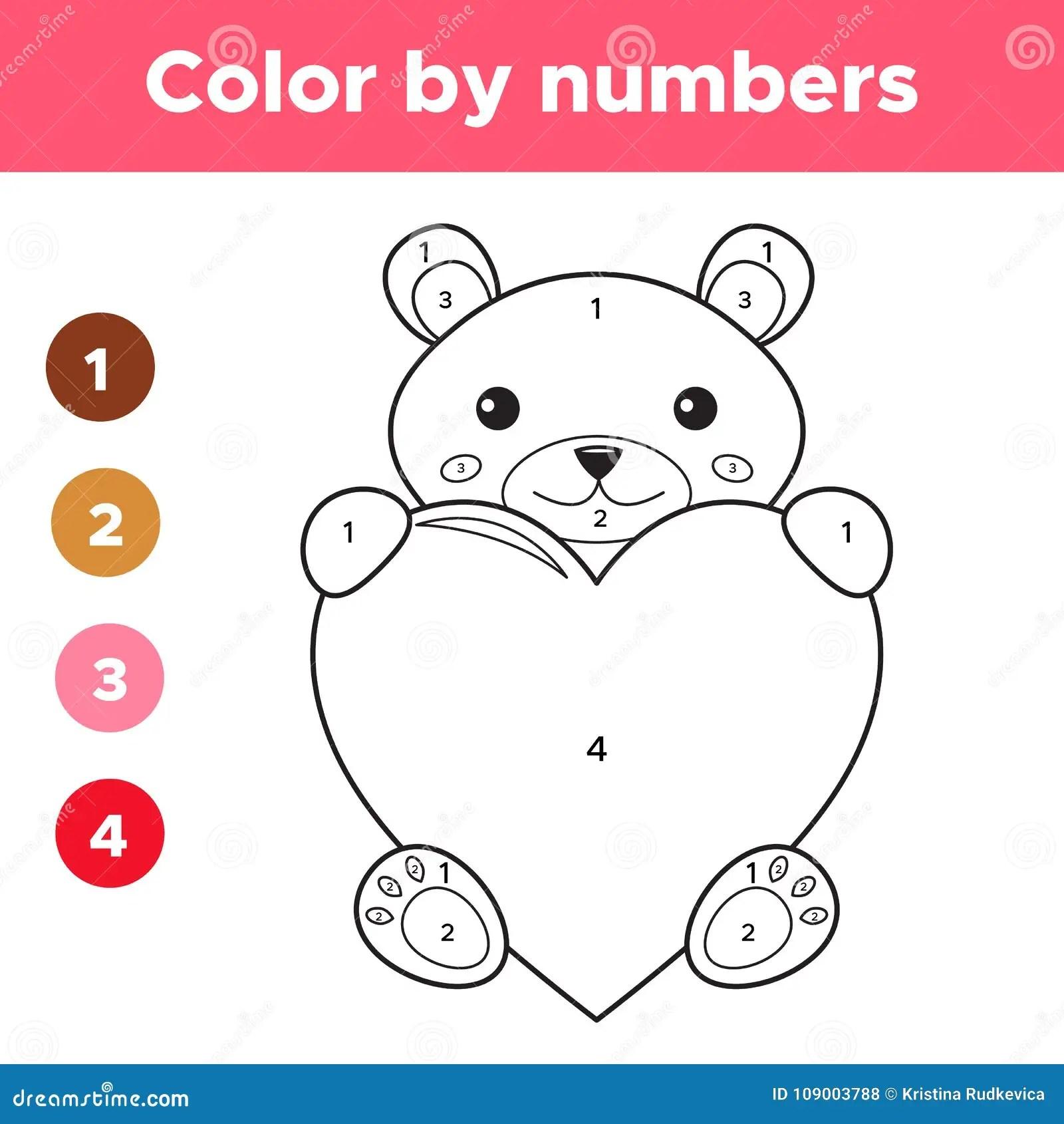 Tarjetas Nmeros Para Colorear T