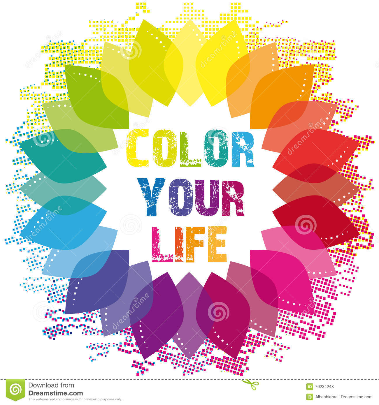 Color Your Life Wellness Wheel Stock Vector