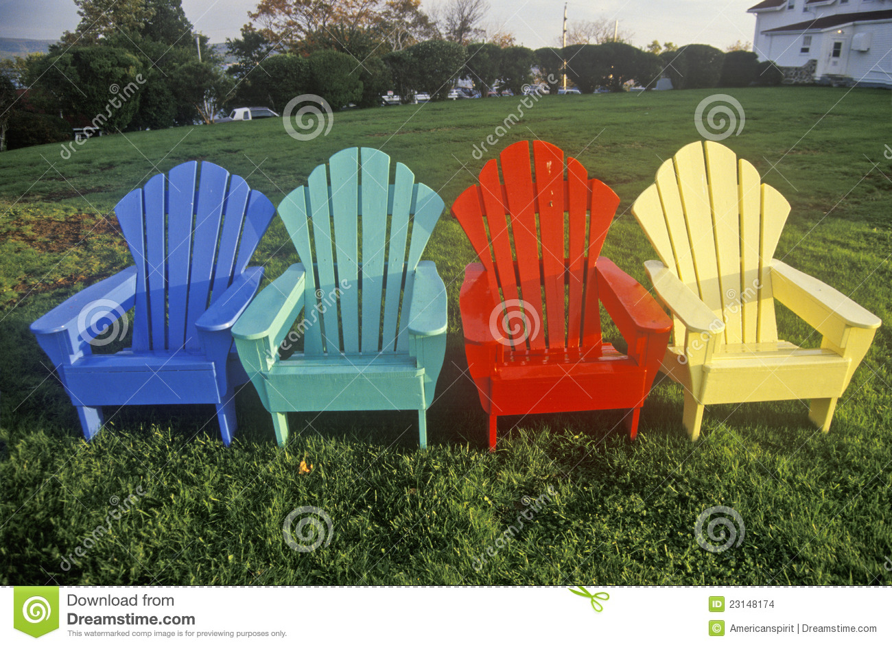 Colored Adirondack Chairs Colored Adirondack Chairs Stock Images Image 23148174