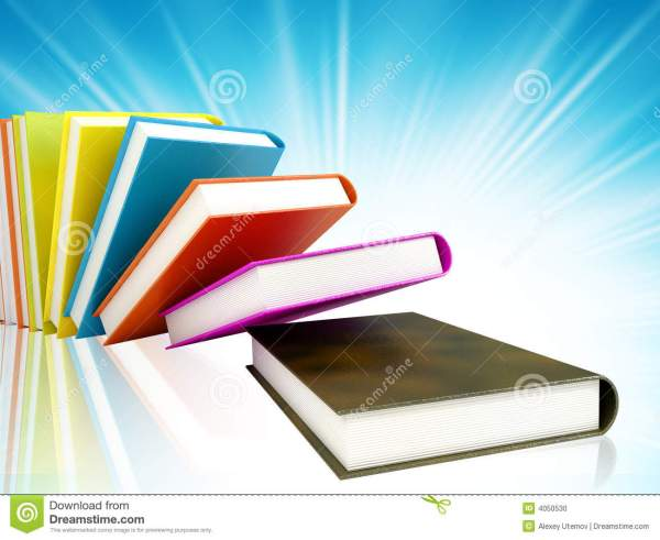 Colored Books Background Stock - Of