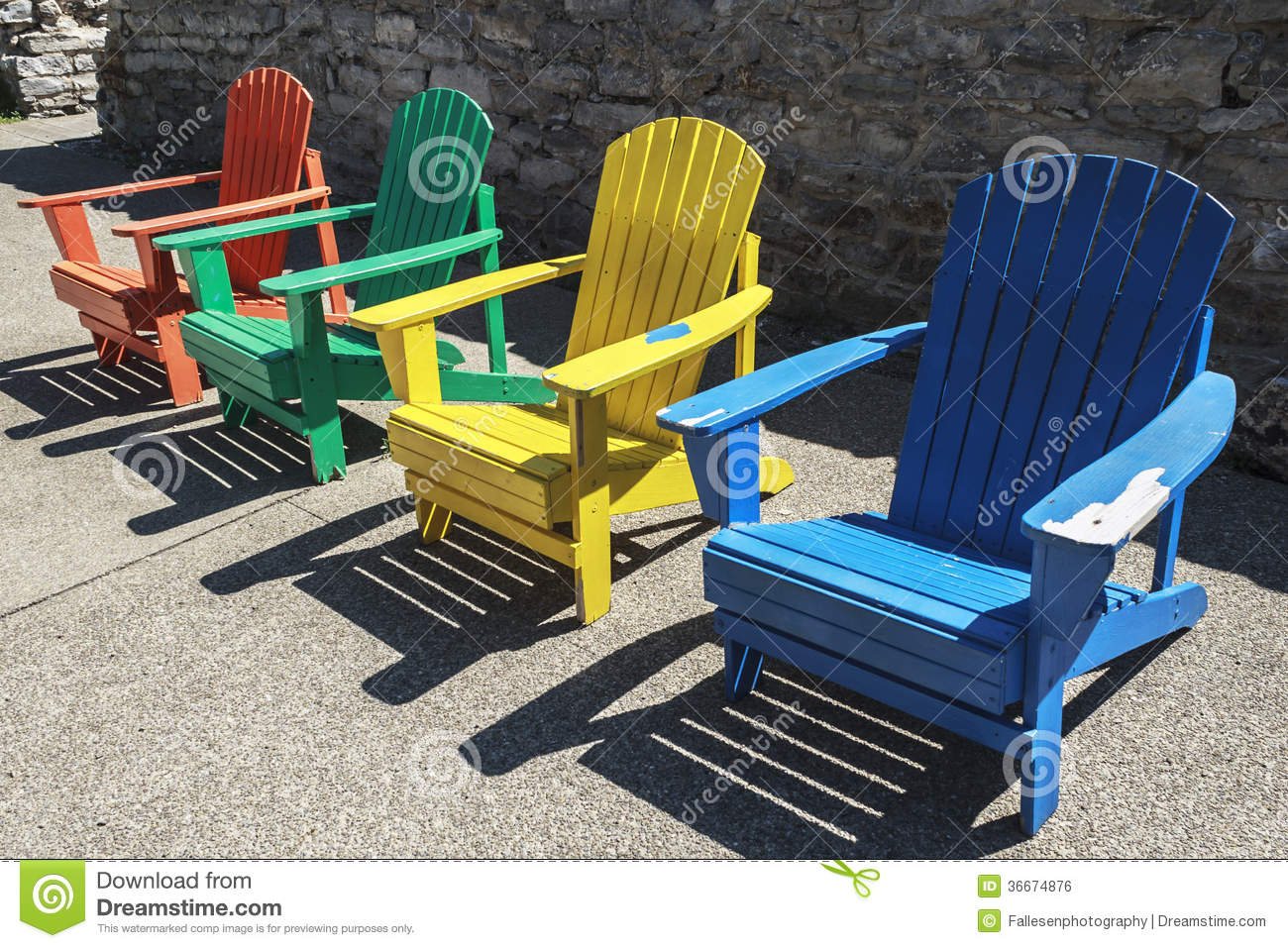 Colored Adirondack Chairs Colored Chairs Royalty Free Stock Image Image 36674876