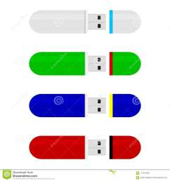 colored flash drive stick collection vector flash drive stick memory for storage accessory flashdrive usb stick illustration [ 1300 x 1390 Pixel ]